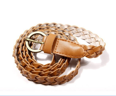 Free shipping! Hot sale!!! 2015 New Arrival woman fashion retro thin belt Simple Style woman woven belt