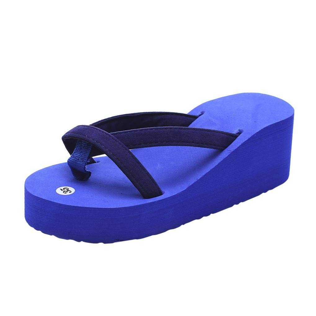 3ac9be6beb7c Get Quotations · Women Sandals Women s Flip-Flop Slide Bohemia Thong Anti-Slip  Sandals Thick Bottom Slippers