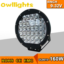 8 inch and 9 inch both are available car accessories 160w led head light High Intensity Black Red Color 160W LED Driving Light