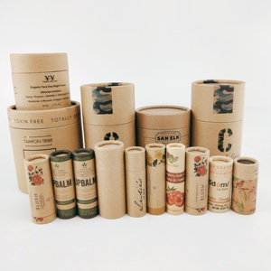 Eco friendly kraft paper small lipstick/lip balm tube