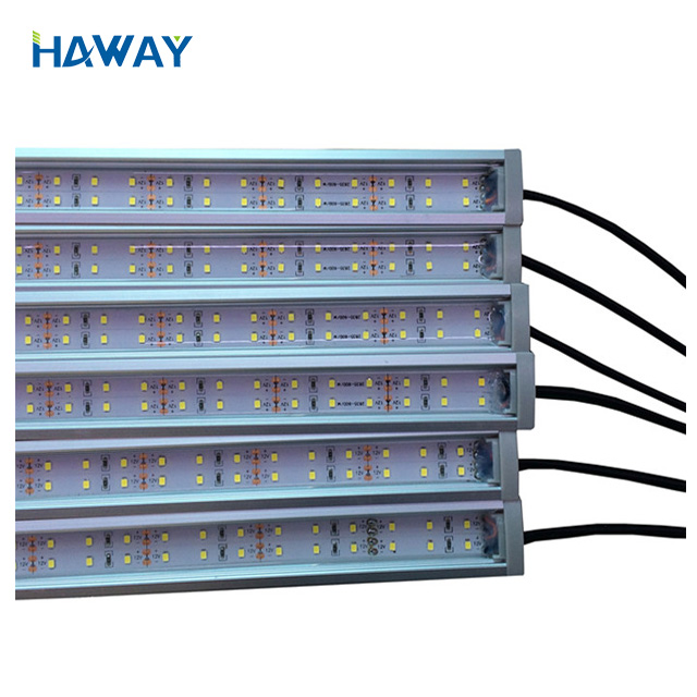 Super brightness 140-150lm/w strip Light DC24V SMD2835 120LED/M 6000-6500K aluminum housing Led Rigid Bar IP68