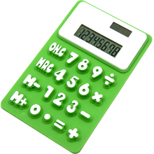 Y-1006C silicone rubber 8 digits promotional foldable solar calculator for gift