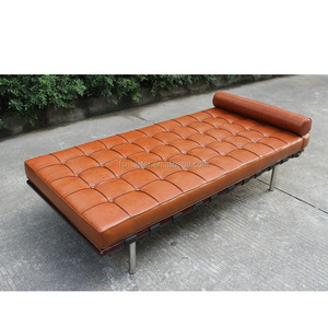 modern pu leather sofa bench replica cushion Barcelona Daybed