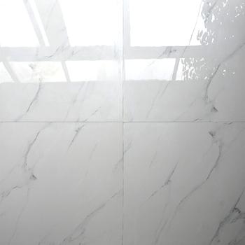Hb6253 Supermarket Azuvi Super Glossy White Polished Porcelain Floor Tiles