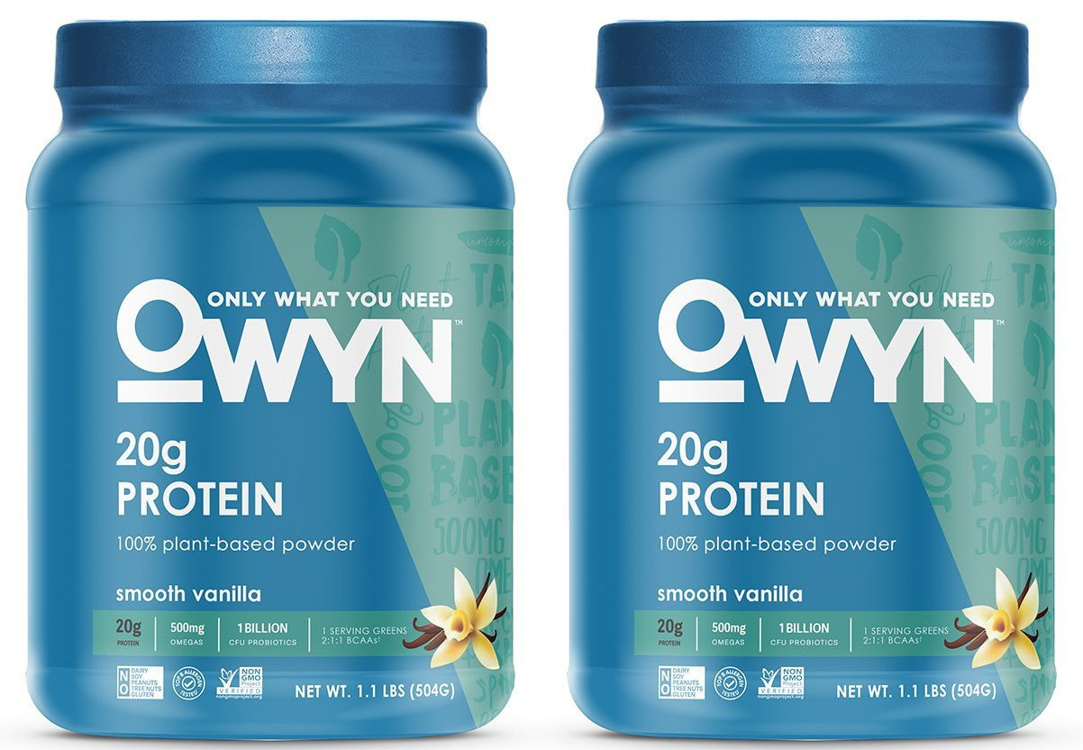 OWYN 100% Plant-Based Vegan Allergen-Friendly Protein-Powder, 28 Servings, 2 Count (Smooth Vanilla)