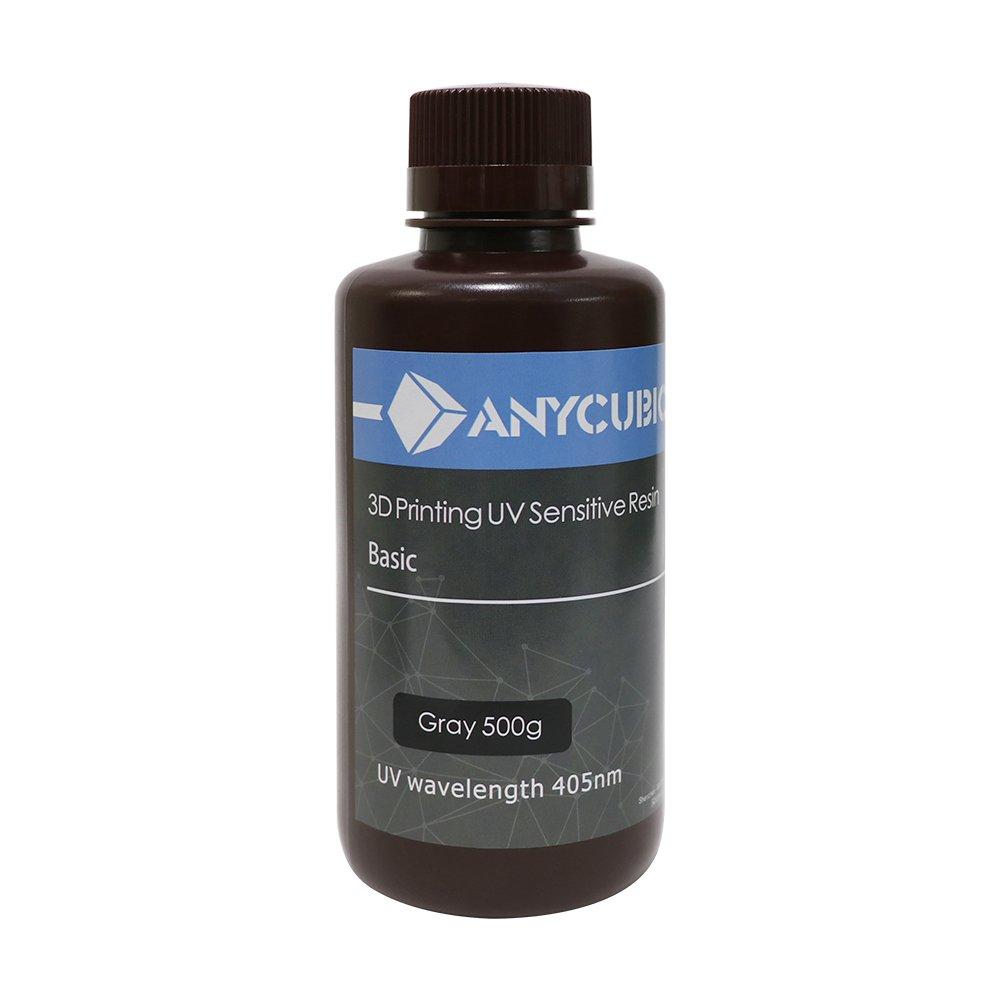 Anycubic POT016 LCD Uv 405 nm Rapid Resin for 3D PRINTER-500Mll/500G-Grey (Bottle Random)