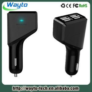 with 4 usb ports for iphone 5 phone car charger for cellphone