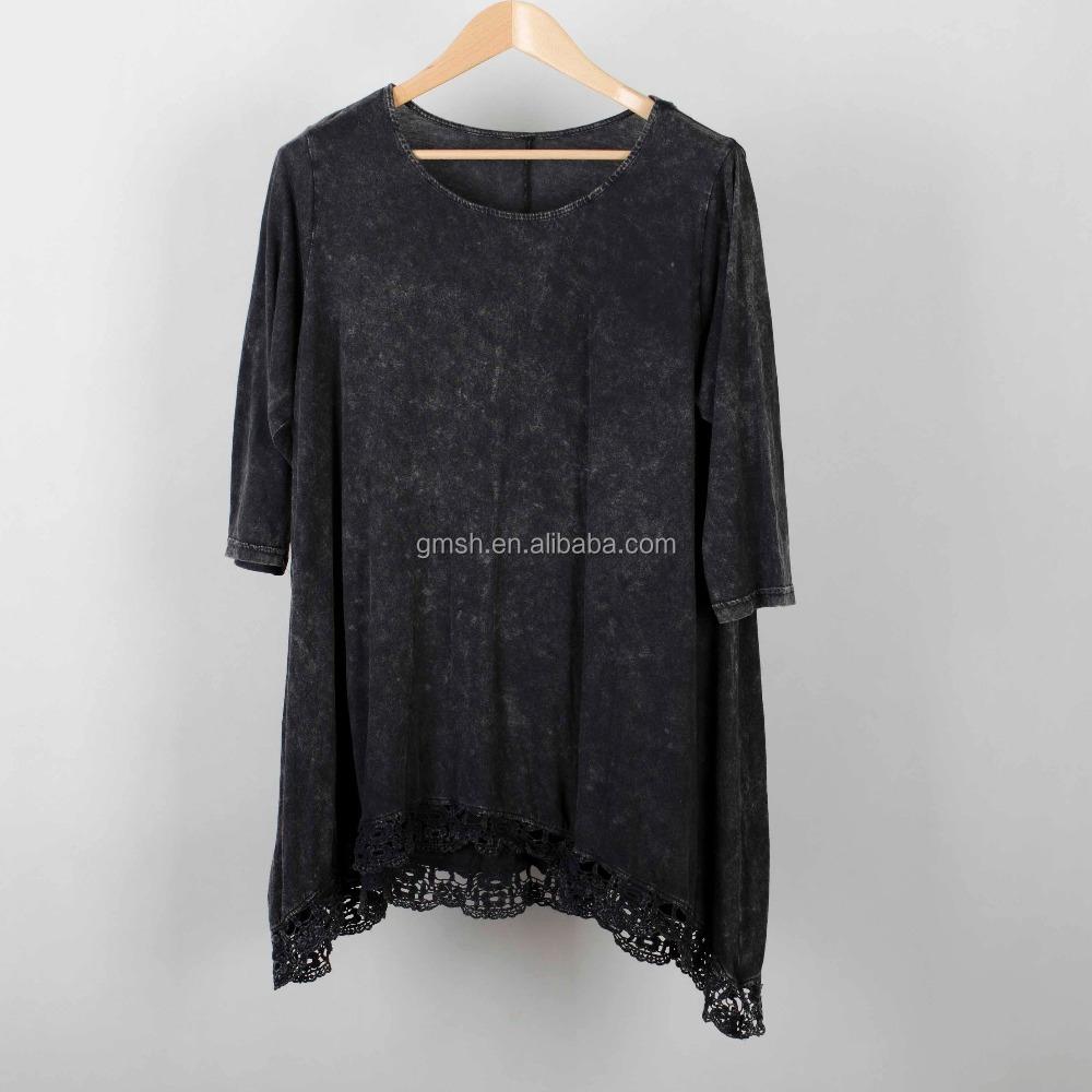 Plain T-shirts For Women Oversized Lady Mama Size T-shirts Dirty ...