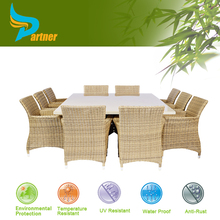 granite top dining table and rattan chair with cushion outdoor patio synthetic rattan cube furniture