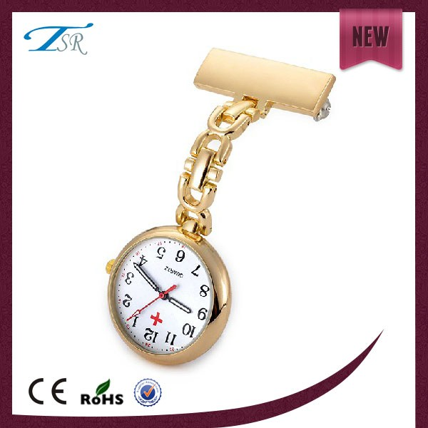 2017 hot sales silver or gold quartz watch for nurses,singapore movement quartz brand watches