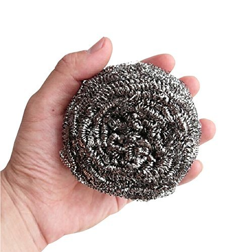 Lot of 2 Extra Large Stainless Steel Kitchen Metal Sponge Pot Pan Scrubber 50g
