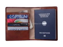Leather passport case cover;ID card holder;ATM card holder