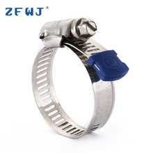 Good quality cheap adjustable standard sizes 304 stainless steel strips hose pipe clamps