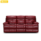 Dark brown furniture decoro curved leather sectional sofa