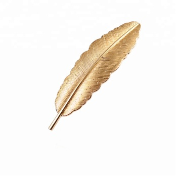 Fancy thicken strong fixed beatiful leaf shaped metal spring hair clip in extension