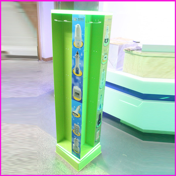 Shenzhen Palstic Mobile Phone Charger Display Stand/Mobile Phone Charger Carton Display/Mobile Phone Charger Display