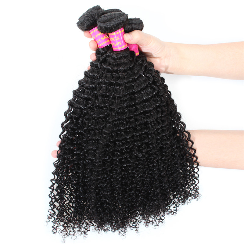 2017 Hot Sale Virgin Indian Hair Factory Price Indian Virgin Remy Deep Curly Hair Weft Kinky Curly Unprocessed Hair