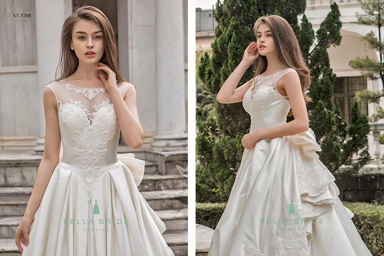 Hot sale luxury heavy beading wedding dress lace applique big