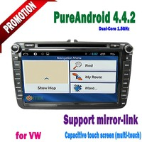 "vw 2din car radio video with 8"" Capacitive touch Screen With Android 4.4 BT ATV 1GB DDR3 dvd gps AUX IN"