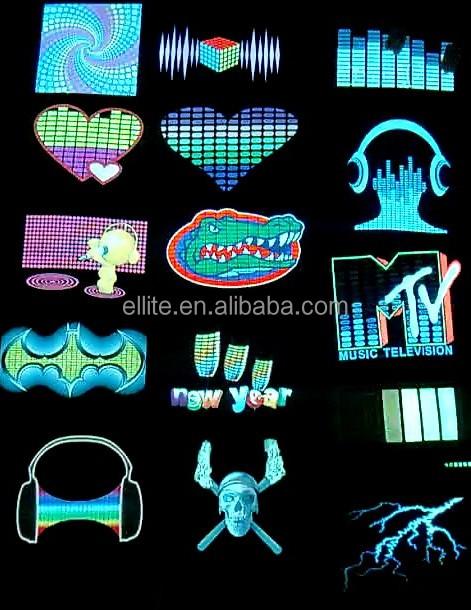 Make You Own Logo Custom Led Light T Shirt