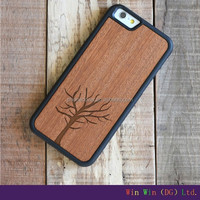 Natural Wood Carved Wooden Hard Phone Case Cover For Apple For iphone 6 For 6splus For iphone 5