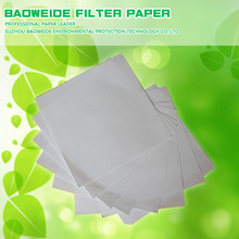 China factory supply 1.2m*1.2m square activated carbon filter paper