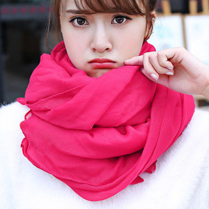 Stock mixed colors size 180*65CM Cotton Scarf pure color with cheap price