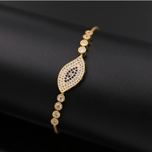 New arrival evil eye rose gold zipper chains
