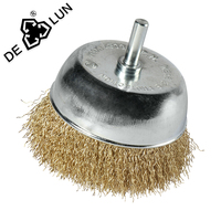 stainless steel wire shaft cup brush for cleaning