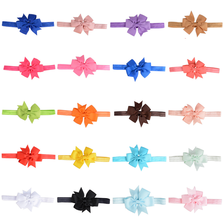 D054 Girls Children Ribbon Grosgrain Bowknot Hairpin Hair Clip