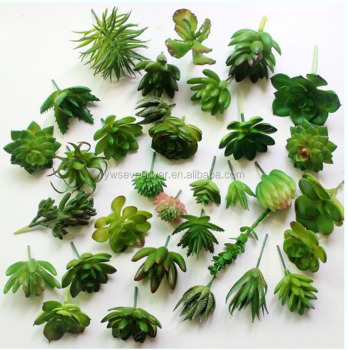 factory mini fake plants plastic succulent artificial plants for