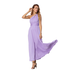OEM wholesale one piece striped women long casual dresses summer
