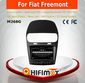 HIFIMAX Android 4 4 4 Fiat Freemont car stereo with gps navigation mp3  radio cd player car dvd player for Fiat Freemont