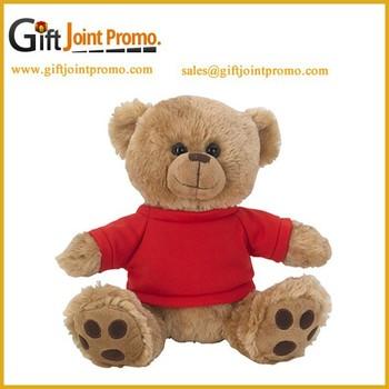 3ea88feed99 Promotional Cartoon Funny Plush Stuffed Big Paw Bear Toy with T shirt