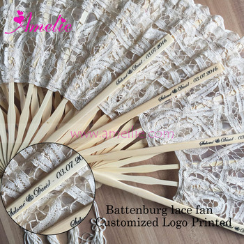 Baby Shower Wedding Party Customized Wedding Gifts Lace Spanish Hand Fan