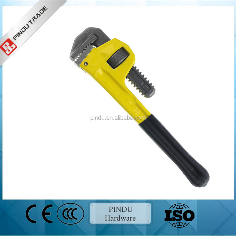 carbon steel electrical pipe wrench with PVC dipped