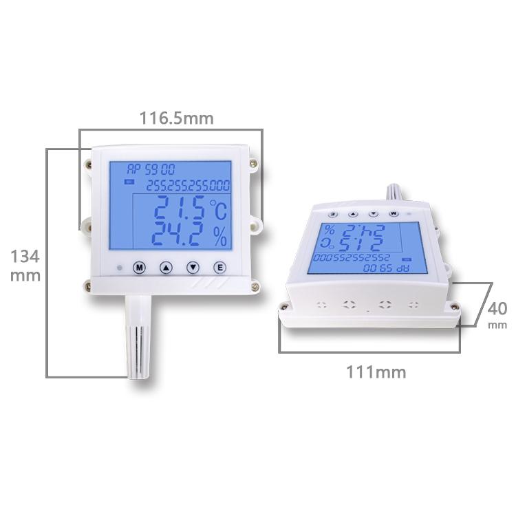 Temperatur-Feuchtigkeits-Meter-Sensor des Netzwerk-TCPIP Digital Lcd für Serverraum