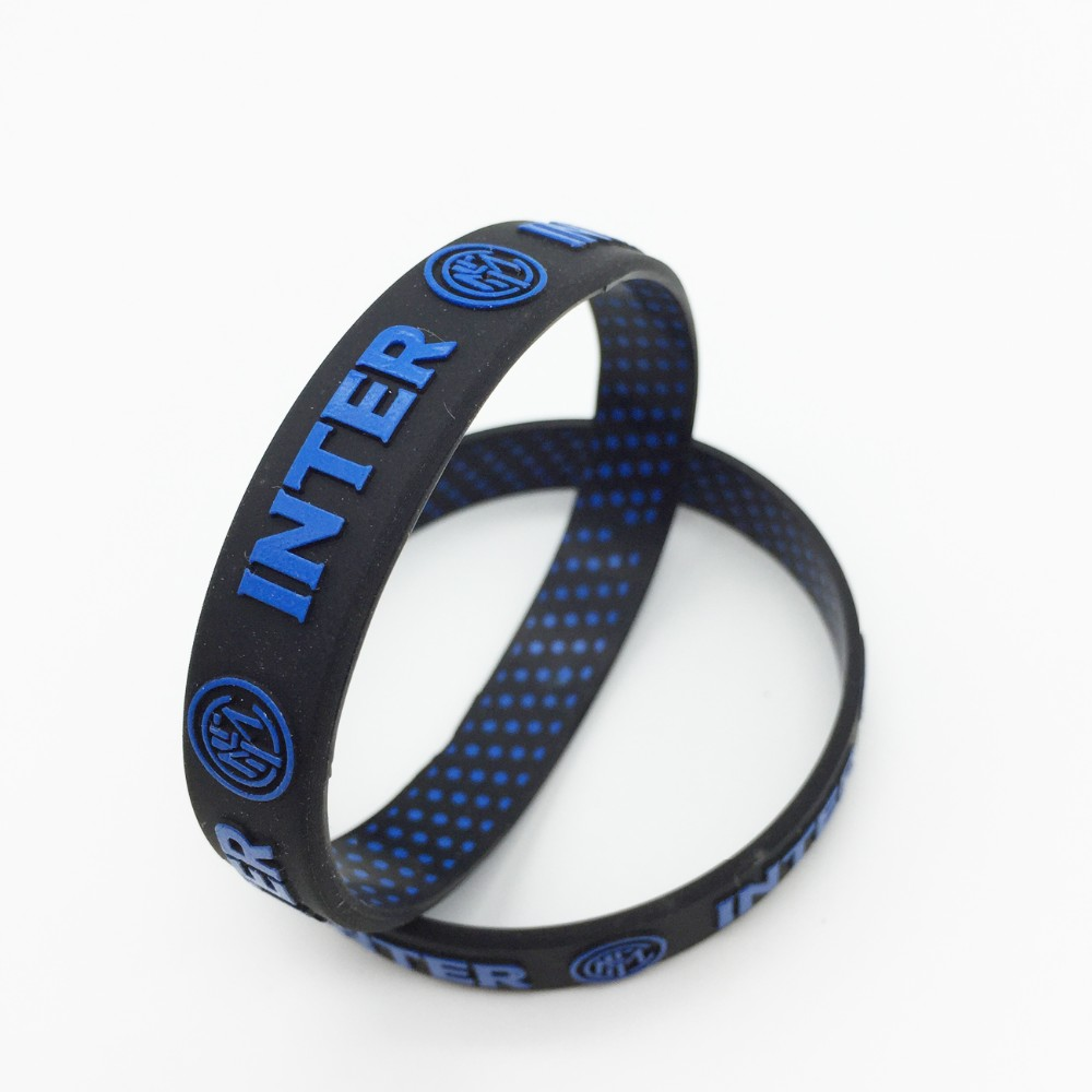 New Year Gifts Custom embossed printed logo rubber silicone wristbands