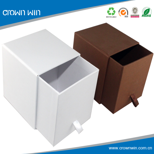 Coffee Mug Cardboard Sliding White drawer Gift Box black drawer gift box