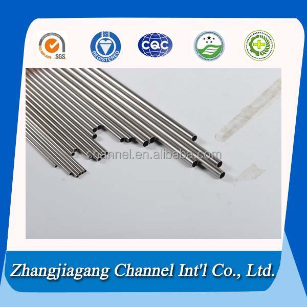 medical used stainless steel pipes one side sharpen