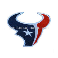 customized Houston Texans Logo embroidery for basketball team at cheap price