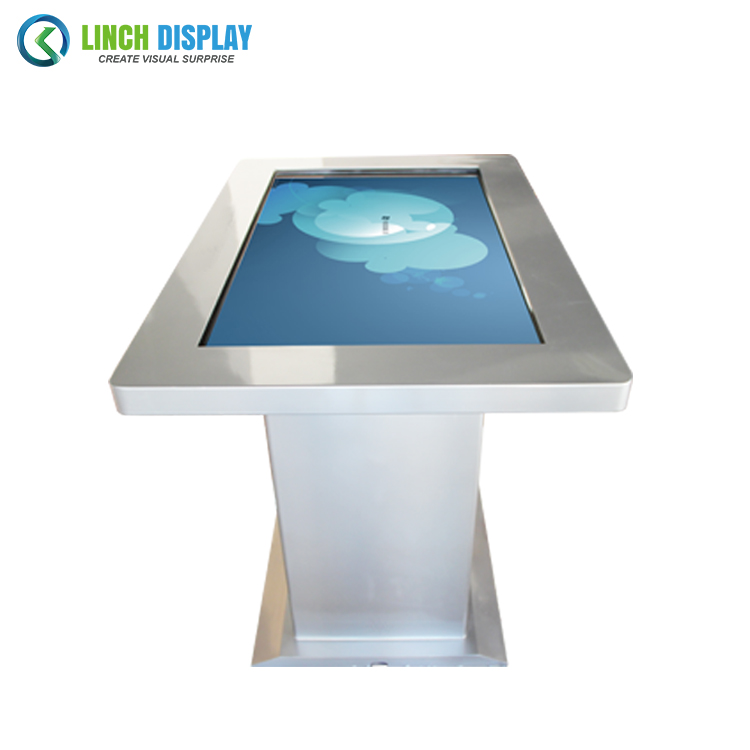 55inch Windows 10 touch podium advertising screen totem LCD table monitor