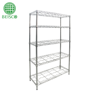 Chrome Plated Living Home Wire Mesh Floor Rack