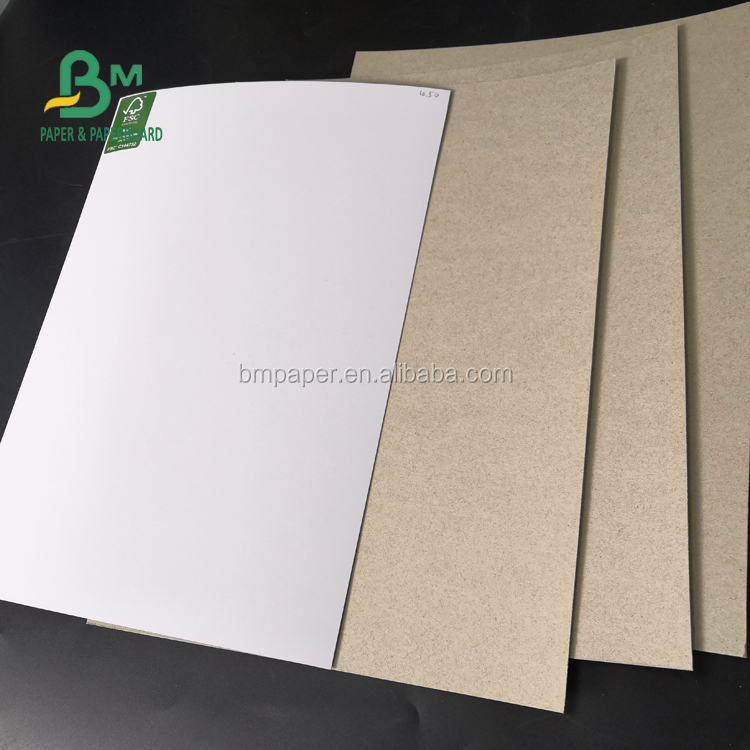 180gsm Recycled Pulp Duplex Carton Shiny White Facade Smooth Surface For Boxes