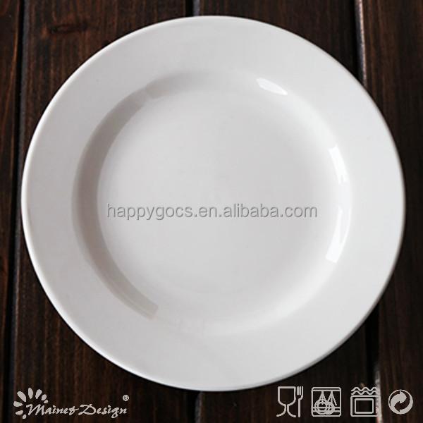 Wholesale Restaurant Porcelain Dinner Plate Ceramic Dinner