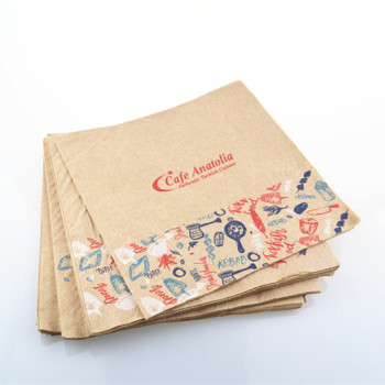 Supplier food grade personalized paper napkins serviette printed with logo