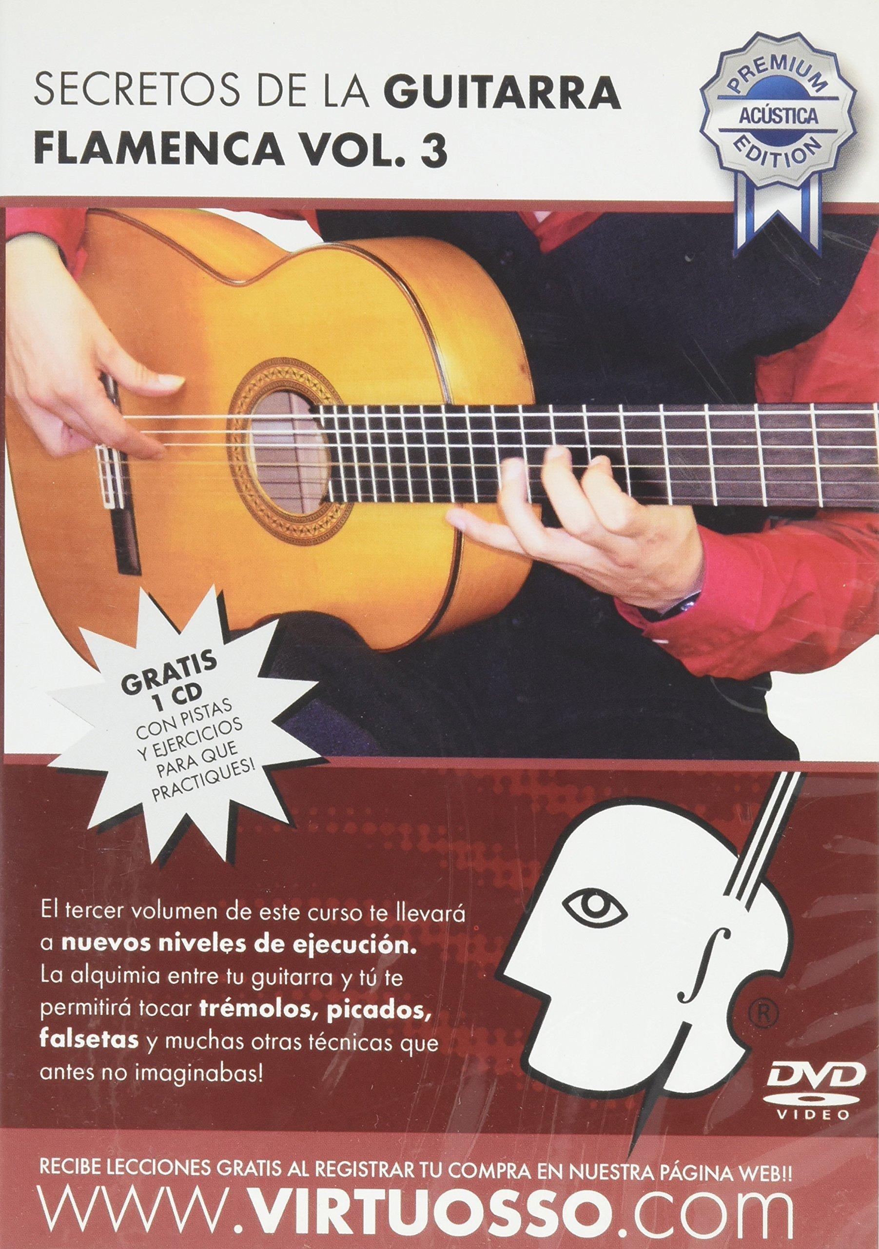 Virtuosso Flamenco Guitar Method Vol.3 (Curso De Guitarra Flamenca Vol.3) SPANISH ONLY