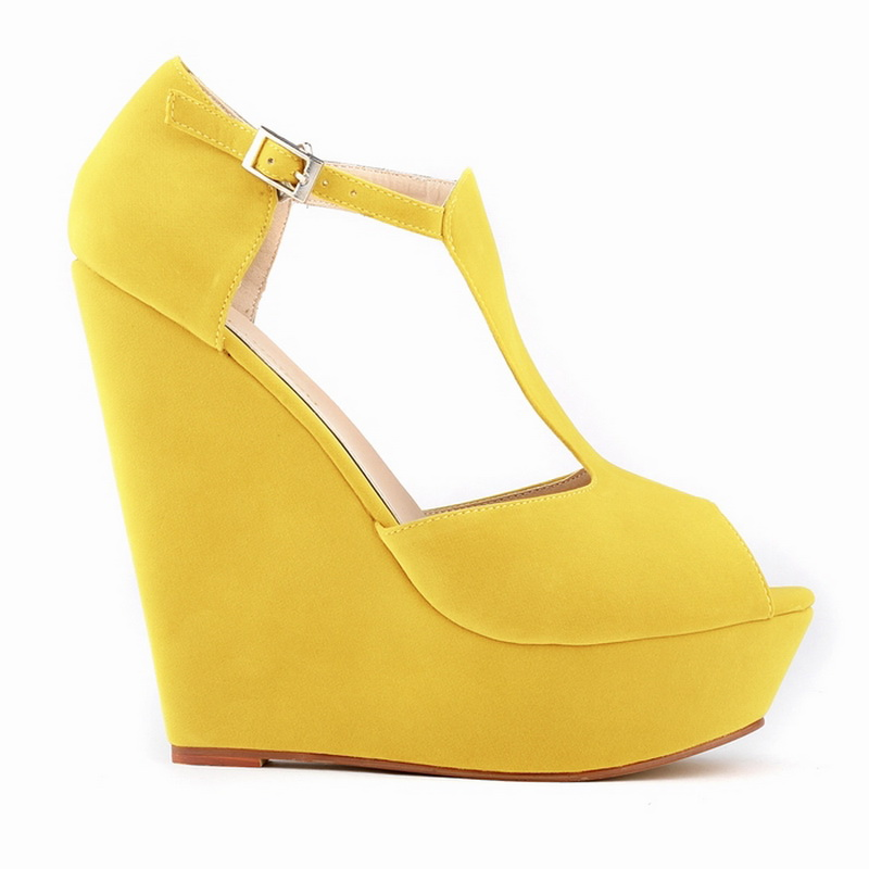 4f7d852e834 Low Prices Women Different Style Yellow Suede Imitation Leather Rubber Sole  Sexy High Wedge Platform Sandal - Buy Different Style Sandal,Sexy High ...