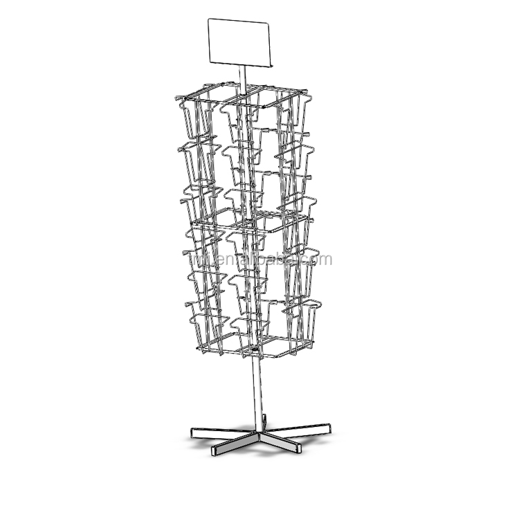 Supermarket Shelves Float Folding Cabinets Display Shelf  holder