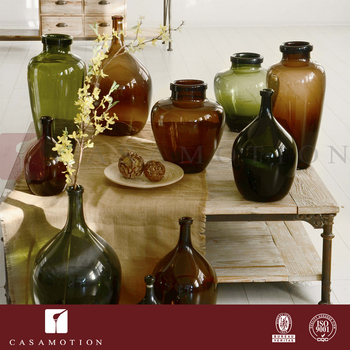 No Moq Casamotion Rustic Home Decorative Glass Vases For Wholesalers